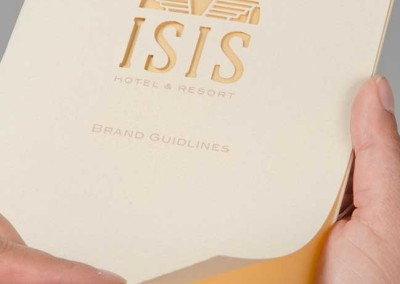 sis Hotel & Resort Brand Guide: Laser Cut Cover
