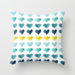 Hearts of the Sea Throw Pillow