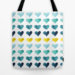 Hearts of the Sea Tote Bag