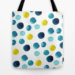 Polka Dot Sea Tote Bag