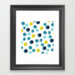Polka Dot Sea Framed Art Print