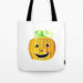 Halloween Jack-O-Lantern Pumpkin Tote Bag
