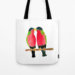 Australian Collared Lory Birds Tote Bag