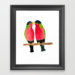 Australian Collared Lory Birds Framed Art Print