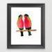 Australian Collared Lory Birds Framed Art Print