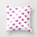 Pink Candy Hearts Throw Pillow