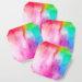 Rainbow Splash Watercolor Coaster