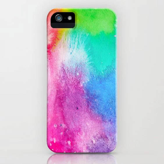 Rainbow Splash Cell Phone Case Product by Aliya Bora