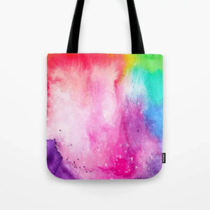 Rainbow Splash Tote Bag Product by Aliya Bora
