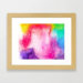 Rainbow Splash Watercolor Framed Art Print