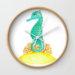 Seahorse Life Wall Clock
