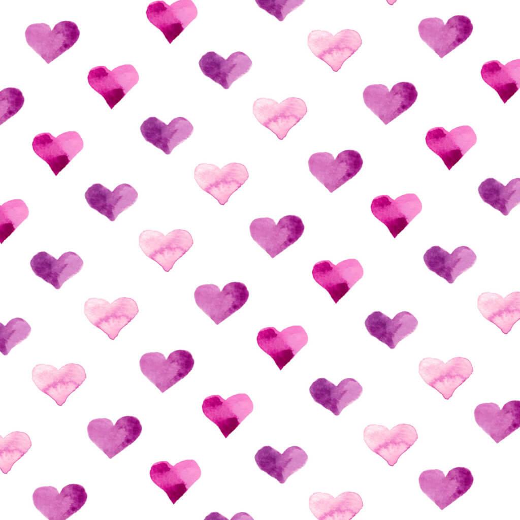 Pink Candy Hearts Watercolor Art Print by Aliya Bora