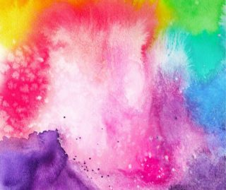 Rainbow Splash Design – Watercolor Art