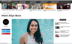 link to SD Voyager Magazine about Aliyq Bora