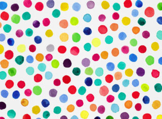 Color Pop Confetti Watercolor Art Print