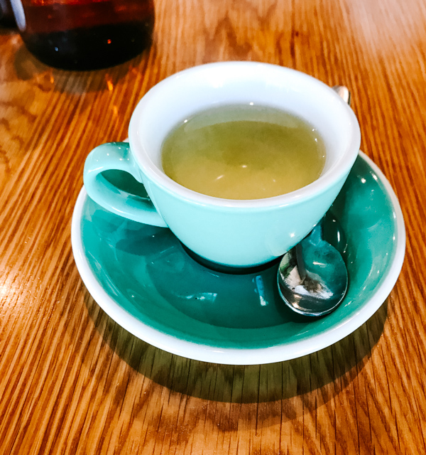 Tea Cup at Pawpaw Cafe in Brisbane, Australia.