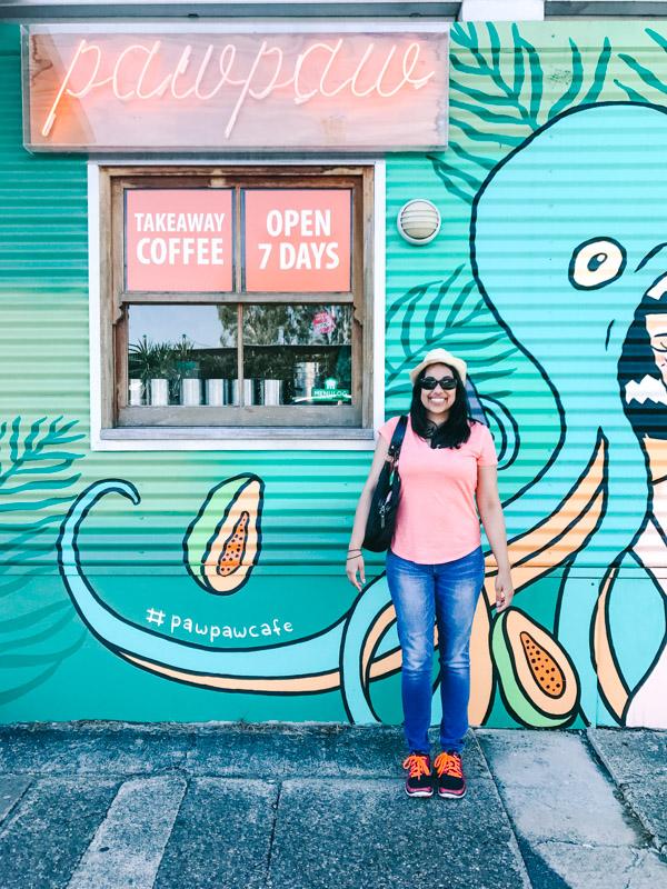 Aliya Bora at Pawpaw Cafe in Brisbane, Australia.