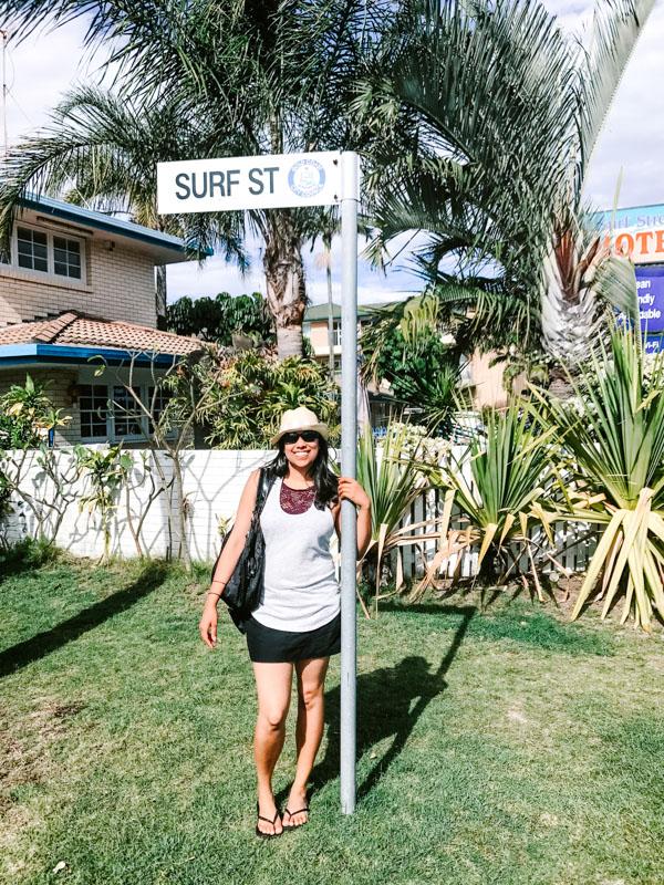 Aliya Bora on Surf Street in Gold Coast, Australia