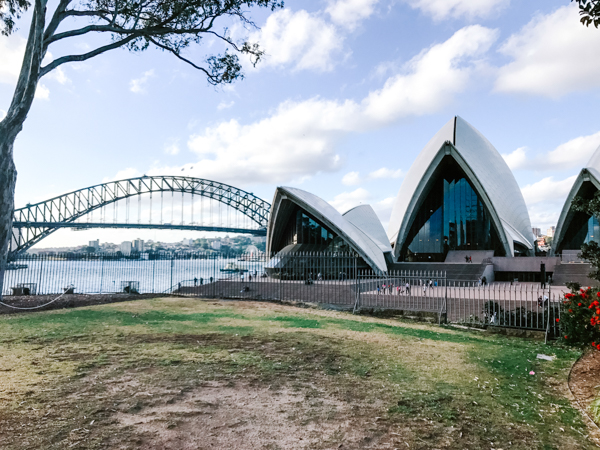 View of Sydney Opera House from the Royal Botanic Garden in Sydney, Australia