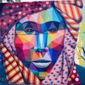 Mural at Wynwood Walls in Miami, Florida