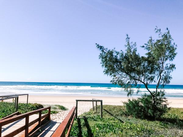 View of Mermaid Beach in Australia's Gold Coast